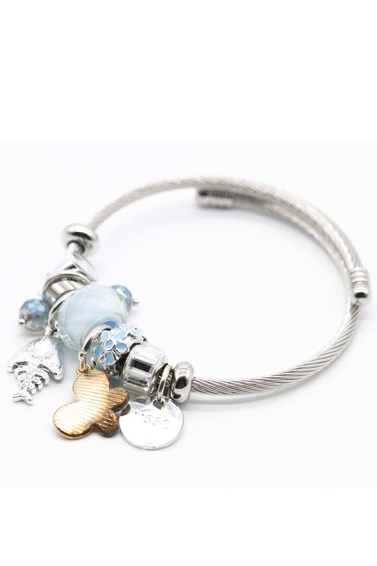 Fish Detailed Bracelet (Blue)