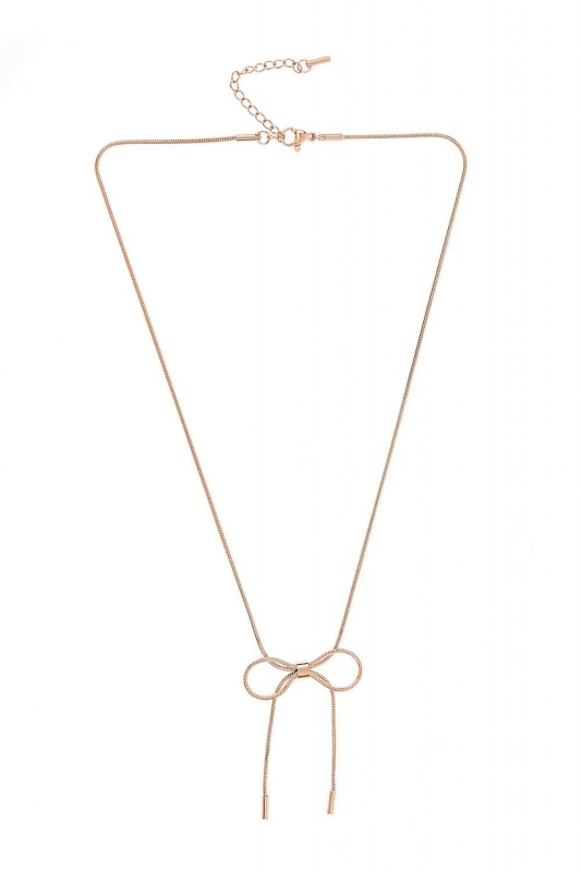 Bow Steel Necklace (St)