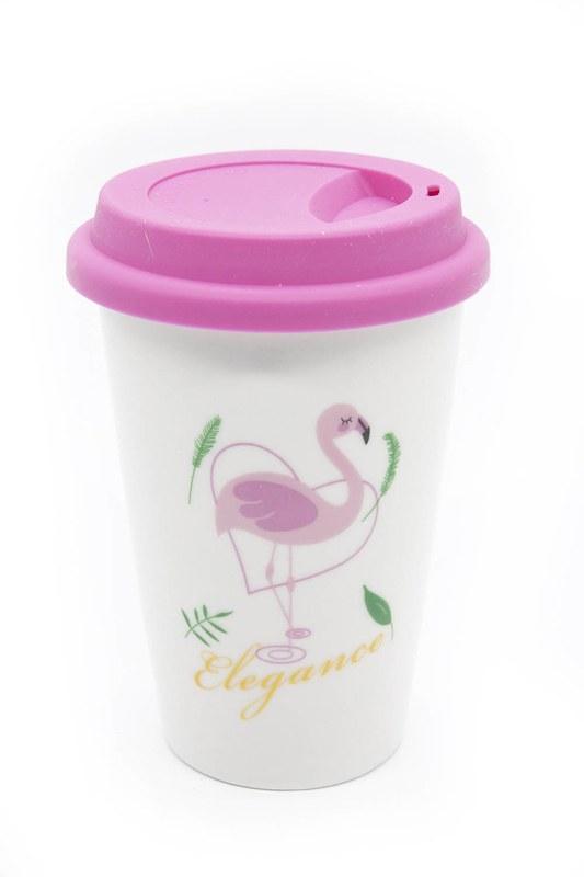 Flamingo Porselen Kupa (Pembe)