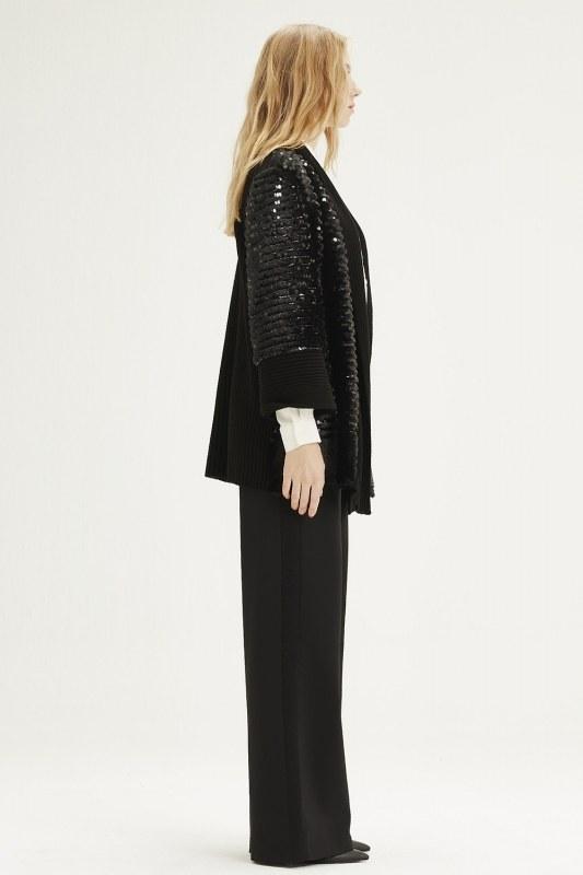 Fur Sequin Cardigan (Black)