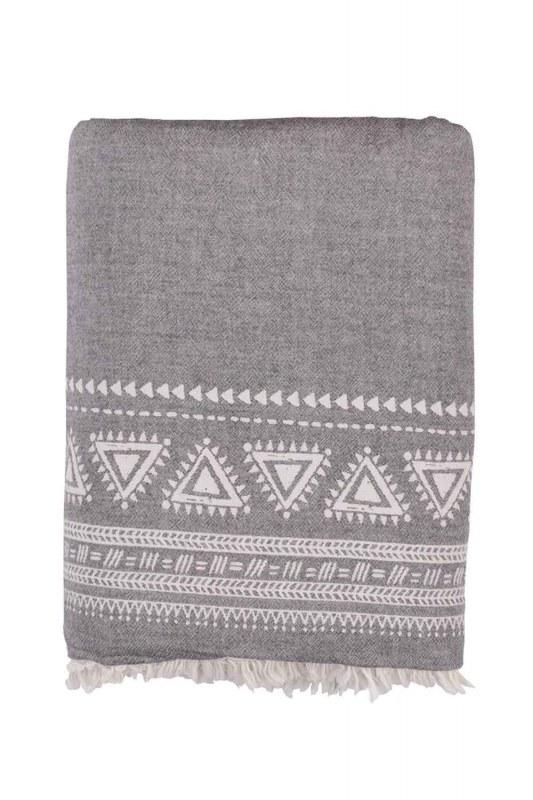 غطاء مقعد رمادي (130 × 170)
