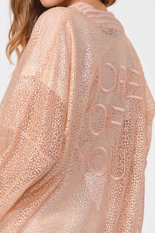 Lace Bomber Jacket (Salmon)