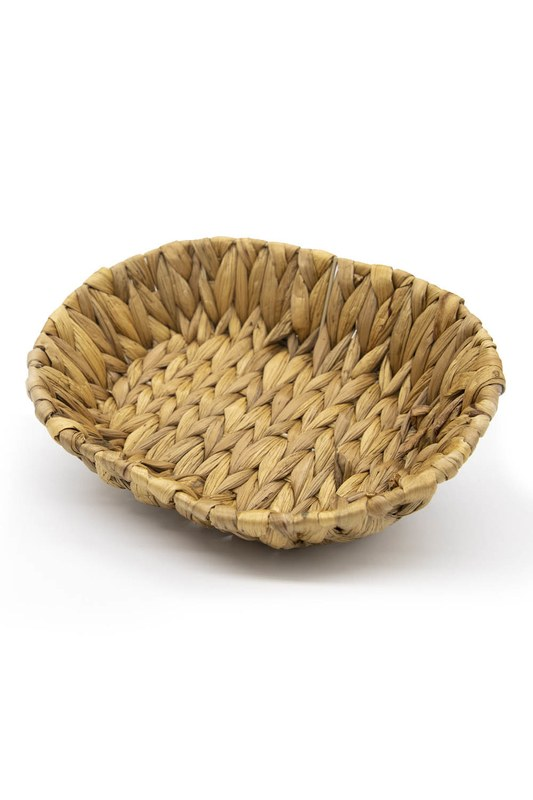 Hasır Oval Sepet (Vizon)