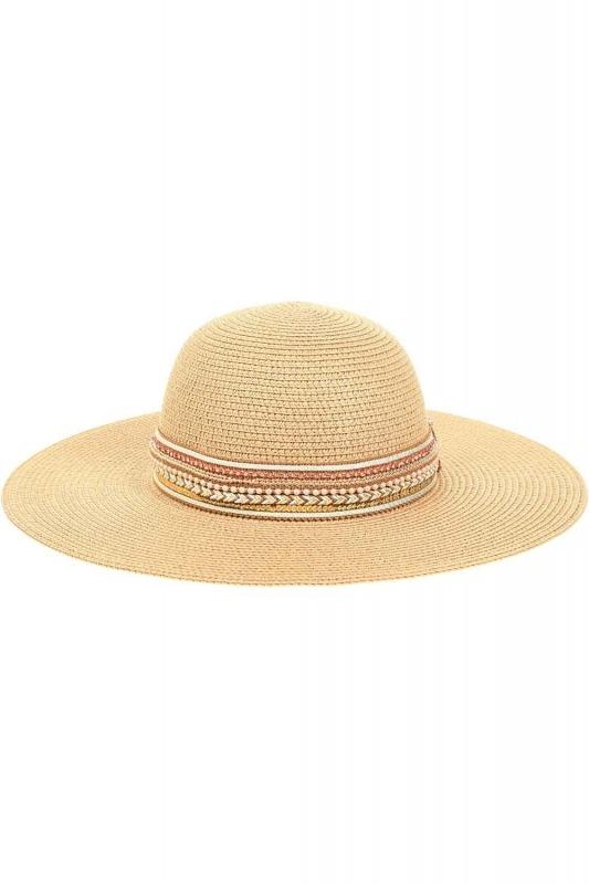 Hasır Plaj Şapkası (Bantlı)
