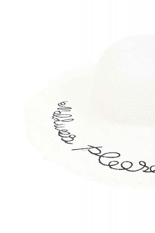 Straw Beach Hat (White)