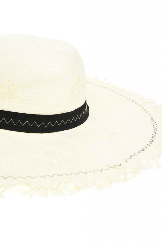 Hasır Plaj Şapkası (Ekru)