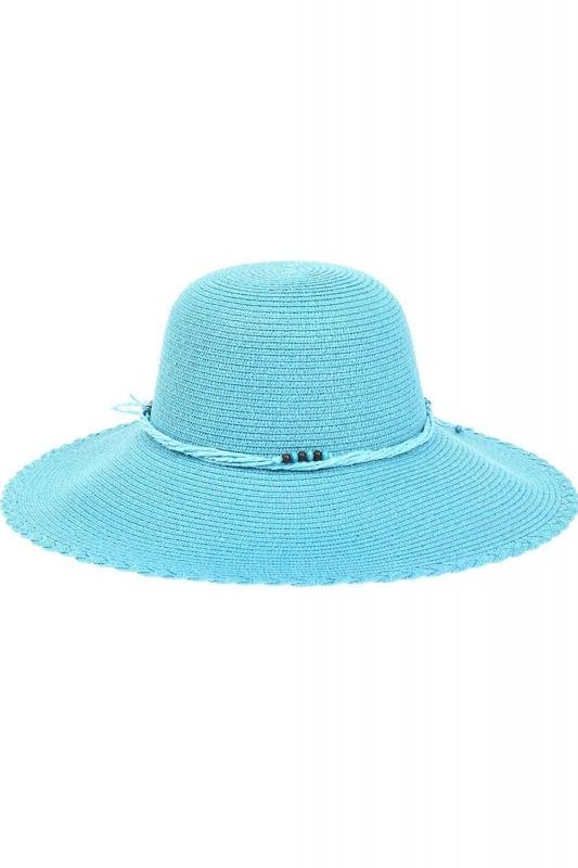 Hasır Plaj Şapkası (Turkuaz)