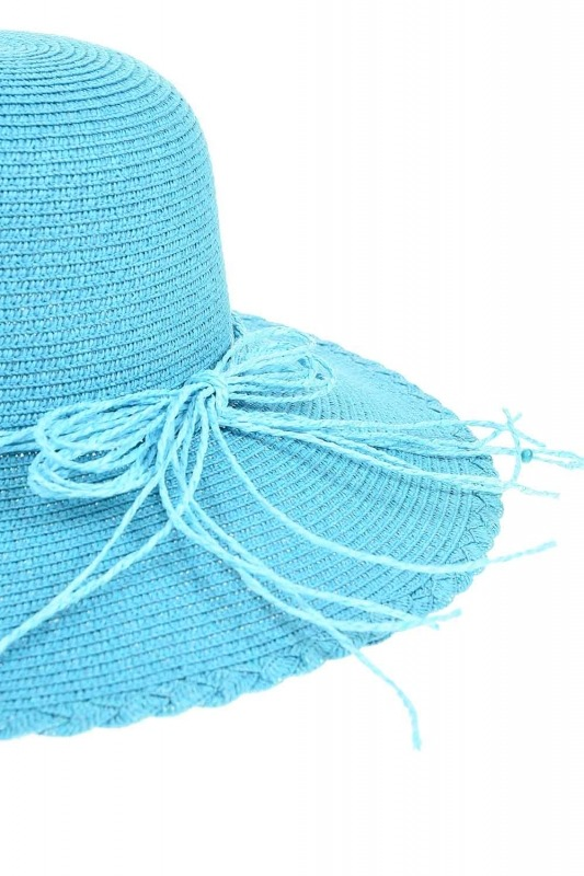 Straw Beach Hat (Turquoise)