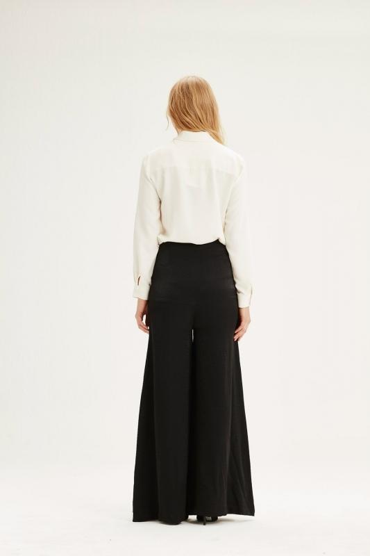 Hıgh-Waisted Trousers (Black)