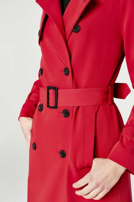 Gabardine Trenchcoat (Claret Red)