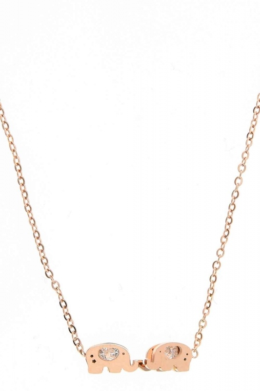 Elephant Detailed Steel Necklace (St)