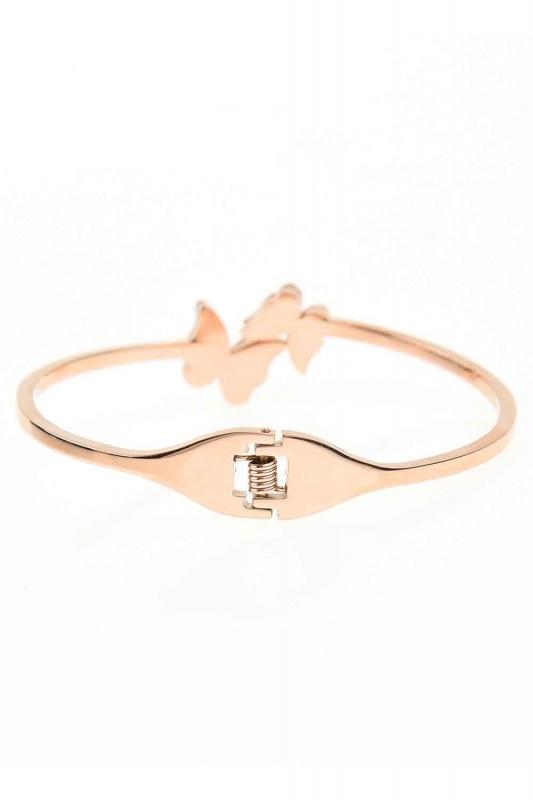 Double Butterfly Steel Bracelet (St)