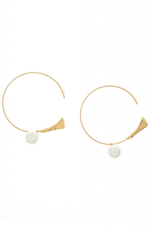 Pearl Detailed Circle Earring (St)