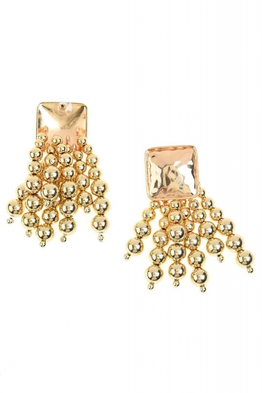 Pearl Detailed Dangling Earring (Gold)