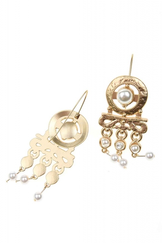 Pearl Looking Dangling Earrings (St)