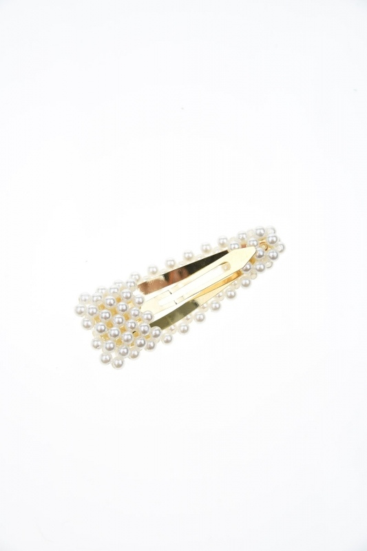 Pearls Snap Buttons Hair Clips (St)