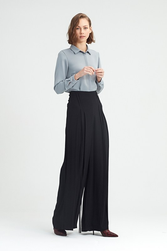 Rope Drooping Trousers (Black)