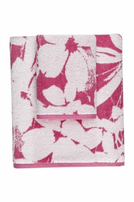 منشفة جاكار (50X90) (وردي)