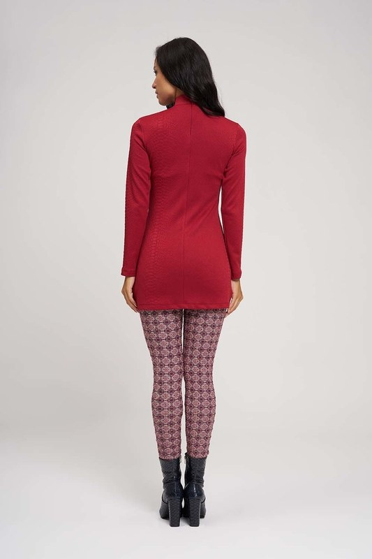 Jacquard Patterned Leggings (Flower)