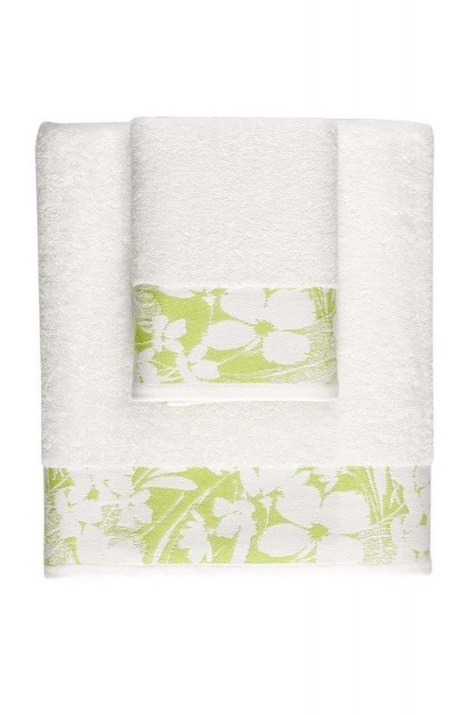 Jacquard Bath Towel (100X150) (Green)