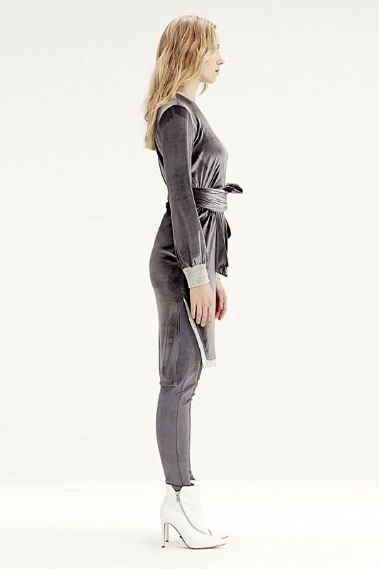 Velvet Dress Tunic (Grey)