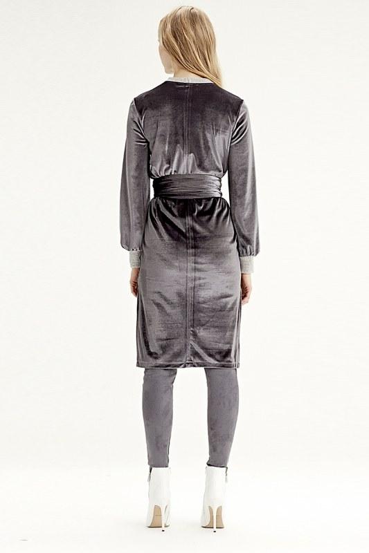 Kadife Elbise Tunik (Gri)