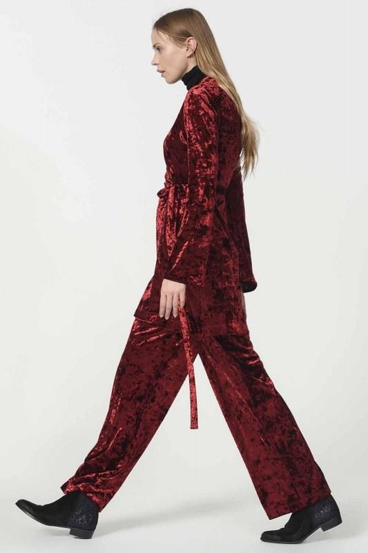 Velvet Kimono (Claret Red)