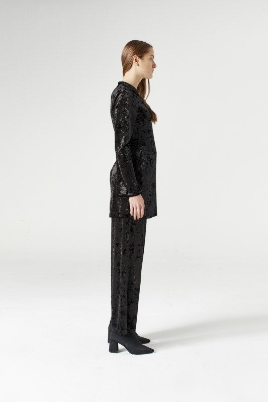 Kadife Kimono (Siyah)