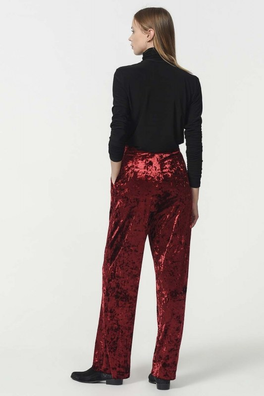Velvet Trousers (Claret Red)