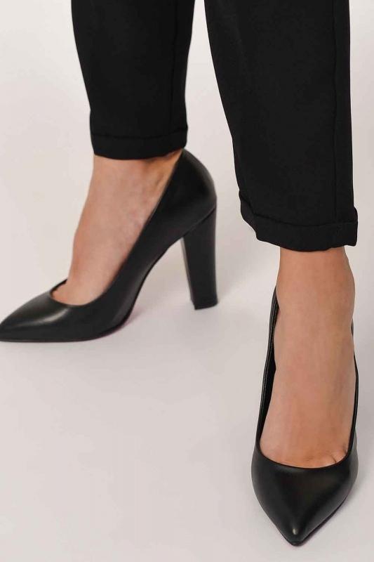 Kalın Topuklu Klasik Ayakkabı (Siyah)