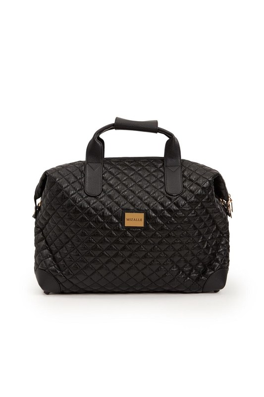 حقيبة كتف كبيرة مبطنة (أسود)