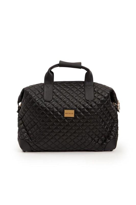 Quilted Large Shoulder Bag (Black)
