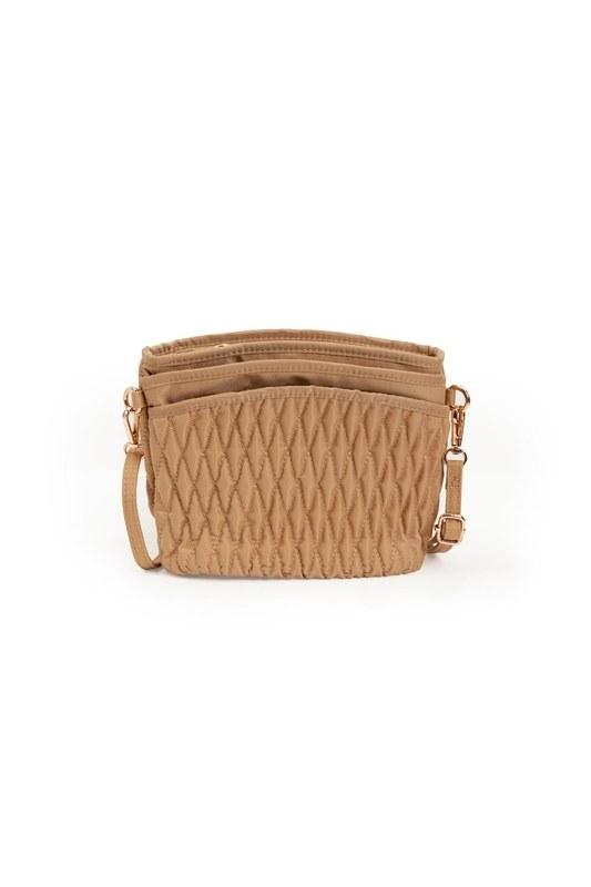 Quilted Shoulder Bag (Beige)