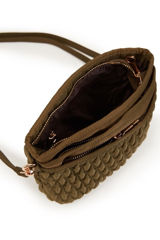 Quilted Shoulder Bag (Khaki)