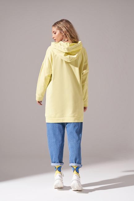 Kapüşonlu Basic Sweatshirt (Fıstık Yeşili) - Thumbnail