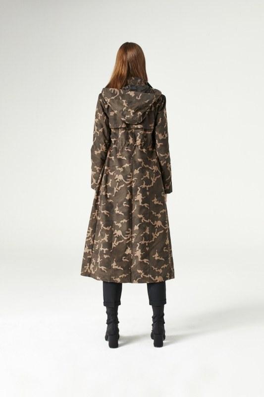 معطف مطري عسكري ذو قبعه (خاكي)