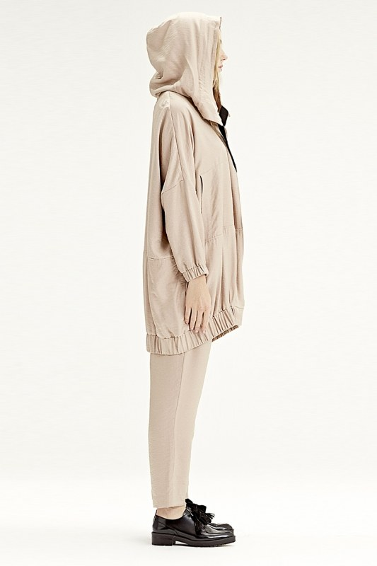 Hooded Raincoat (Powder)