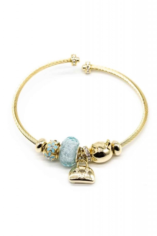 Cat Shaped Bracelet (Blue)