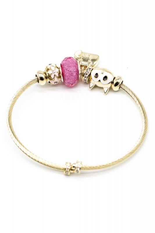 Cat Shaped Bracelet (Pink)