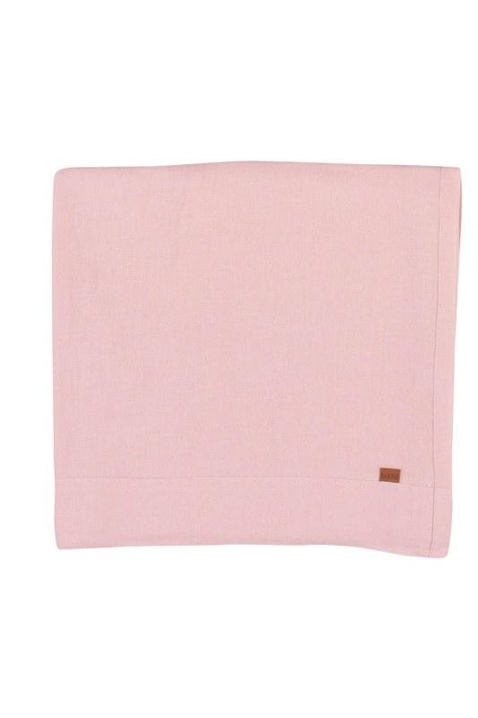 الكتان مفرش المائدة (الوردي)