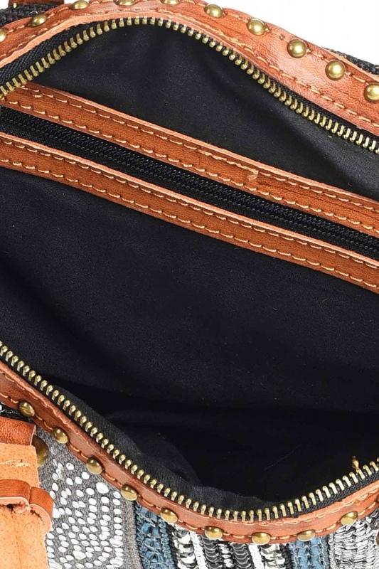 Keten Pullu Kol Çantası (Siyah)