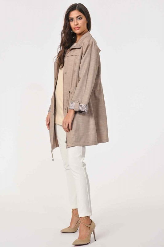 Plus Size Trenchcoat (Beige)