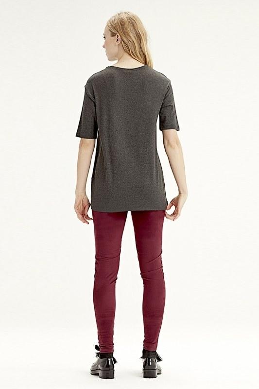 Kısa Kollu T-Shirt (Füme)