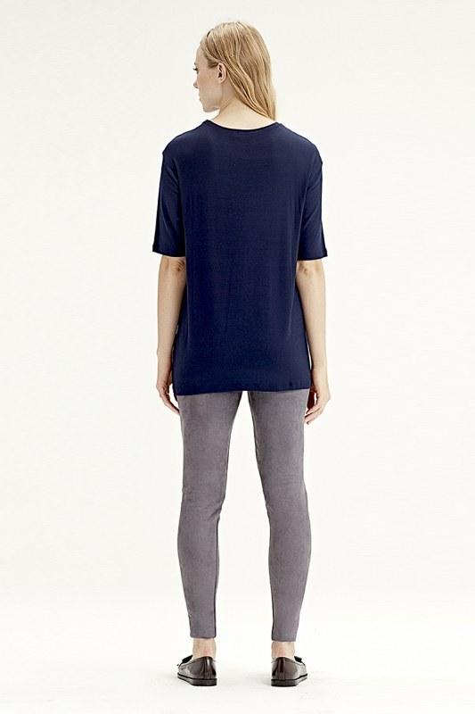 Kısa Kollu T-Shirt (Lacivert)
