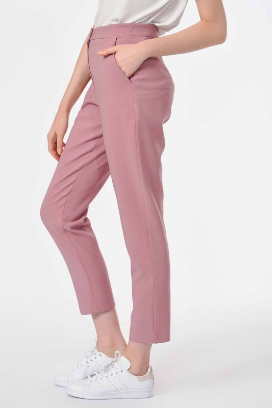 Classic Narrow Leg Trousers (Rose)