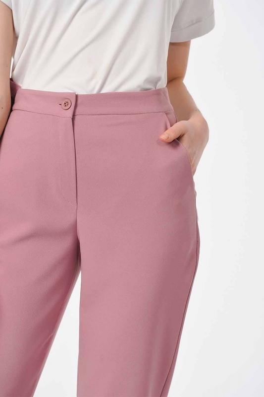 Klasik Dar Paça Pantolon (Gül Kurusu)