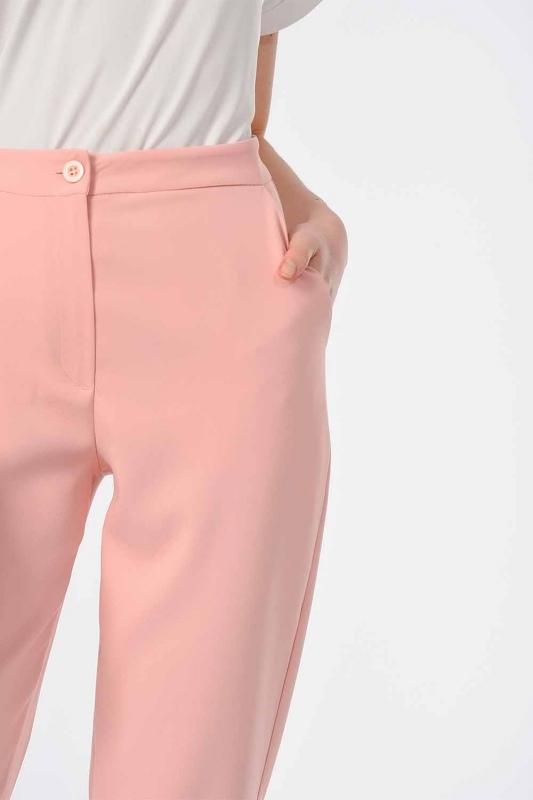 Classic Narrow Leg Trousers (Powder)