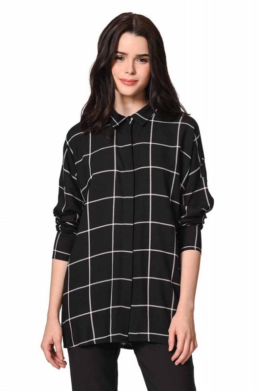 Klasik Rahat Kalıp Gömlek (Siyah)