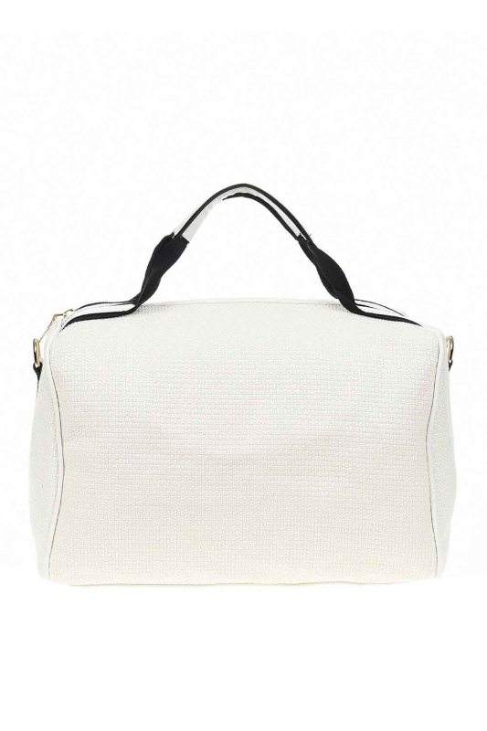 Knitting Large Handle Bag (White)