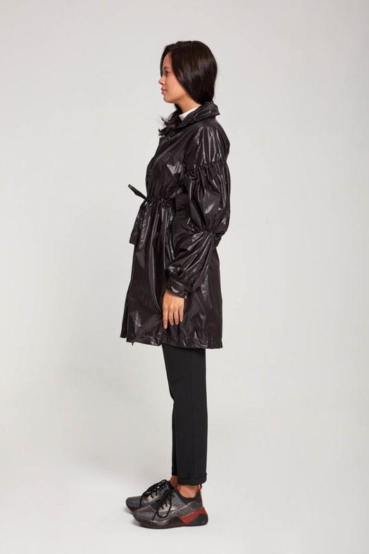 معطف واق من المطر بالون (أسود)